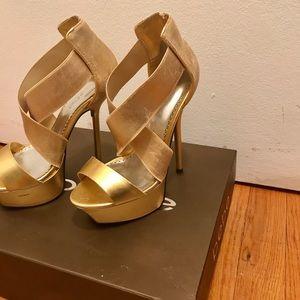 Bebe- Cleo Gold Heels